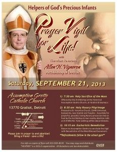 A busy day!  Detroit's Archbishop Vigneron leads march for life, then unpacks Pope Francis' controversial statements