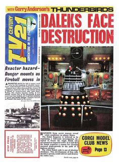 TV21 Cover 17-09-1965 Daleks Doctor Who by combomphotos, via Flickr