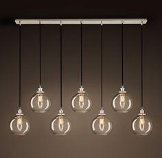 Lighting glass orb chandelier from west elm 499 over for Ikea orb light