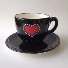 Decoration Piece, Hand Painted Ceramics, Lead Free, Handicraft, Rooster, Tea Cups, Notes, Dishes, Traditional