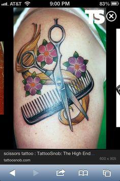 Scissors Comb lock of hair