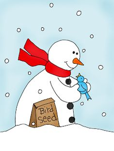 Free Dearie Dolls Digi Stamps Snowing At My House So Here Is A Little Snowman For Today I Loved Reading All Of Your Cat Stories And Christmas Trees