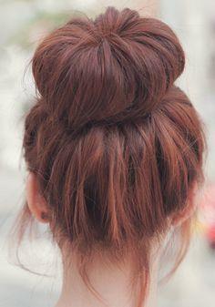 #bun #buns #redhead #hair #updo