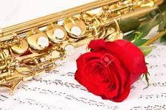 Resultado de imagem para imagens de saxofone e rosa vermelha