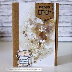 Geburtstags-Karte mit der Katze von den Three Amigos (Mama Elephant), Birthday Card