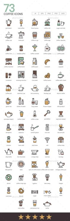 #Coffee #Icons - #Food Objects