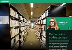 De l'omerta etdes lettres - La Presse+ Black Books, Letters