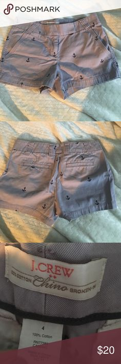 purple anchor shorts Jcrew purple shorts with navy blue anchors. super cute and preppy J. Crew Shorts Jean Shorts