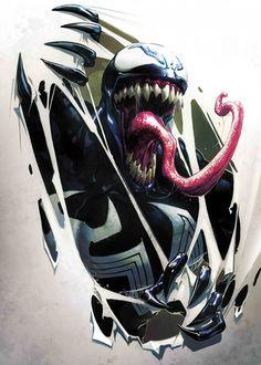 "Want a metal print copy?: Visit Store Description: Official Marvel Spider-Man Venom Symbiote artwork by artist ""Marvel"". Venom Spiderman, Spiderman Art, Amazing Spiderman, Venom Comics, Marvel Comics Art, Marvel Avengers, Marvel Villains, Marvel Characters, Venom Tattoo"