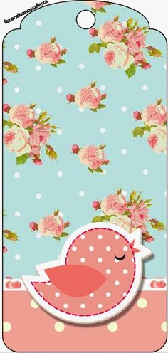 Shabby Chic in Pink and Light Blue: Free Party Printables. Cute Wallpaper Backgrounds, Cute Wallpapers, Party Printables, Free Printables, Cricut Banner, Baby Shower Background, Diy And Crafts, Paper Crafts, Bird Free