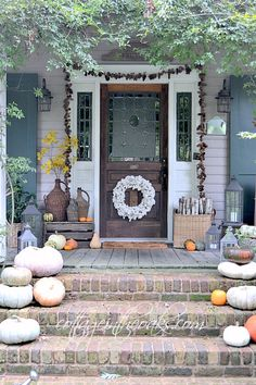 Our front porch is the first place that we change and refresh each season …… autumn is always my favorite!
