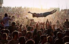 Festival crowd dive - Source: Unknown