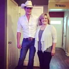 """""""Mom and I are ready to hit the red carpet for the show tonight. Country Music Artists, Country Singers, Jon Pardi, Man Crush, Brogues, Country Living, Concerts, My Mom, Sexy Men"""