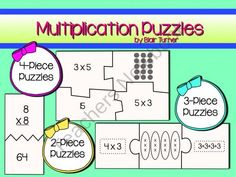 Multiplication Puzzles - Common Core Aligned product from Blair-Turner on TeachersNotebook.com