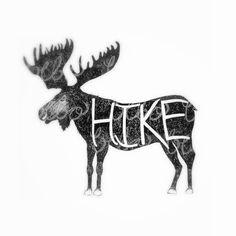 Moose Antlers Hand Drawn Illustration Lettering by BeboWorks