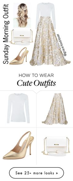 """Sunday Morning Outfit"" by grace-food-lover on Polyvore featuring Lela Rose and Manolo Blahnik"
