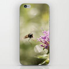 Phone Skins / iPhone 6 Originalaufnahme (originalaufnahme) Flower with hoverfly by Originalaufnahme $15.00
