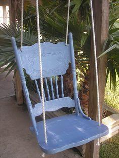 Shabby Chic Chair Swing. $50.00, via Etsy.