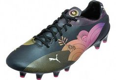 428290f21e0ad Puma evoSPEED 1.3 FG ACN Soccer Cleats - Black  soccerworkouts Puma  Football Boots