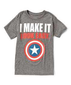 This Gray Marvel 'I Make It Look Easy' Tee - Boys is perfect! #zulilyfinds