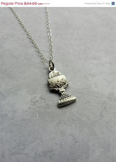SALE Girl's First Communion Chalice Necklace in Sterling Silver on Etsy, $30.60