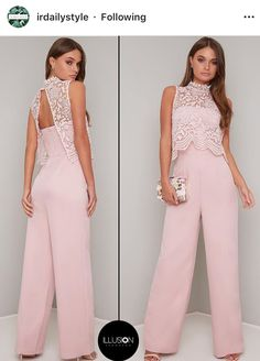 Cute Fashion, Fashion Pants, Fashion Dresses, Mom Dress, Lace Dress, Wedding Pantsuit, Off Shoulder Jumpsuit, Designer Dresses, Dress Outfits