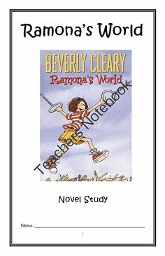ramona the pest by beverly cleary complete unit of reading rh pinterest com Ramona The Brave Ramona The Brave Printables