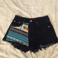 Black Tribal High Waisted Shorts Black tribal print high waisted shorts. Super comfy! Shorts Jean Shorts