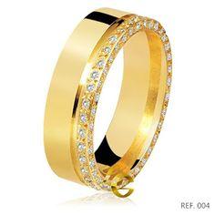 Joias by LG - Luceny Guaraná: Alianças de casamento com ouro 18k e brilhantes