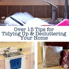 Over 15 Tips for Tidying Up & Decluttering Your Home (moving hacks toys) Home Organisation, Organization Hacks, Cleaning Solutions, Cleaning Hacks, Declutter Your Life, House Cleaning Services, Tidy Up, Organizing Your Home, Organizing Tips