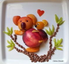 fun food ideas.  fun fruity koalas