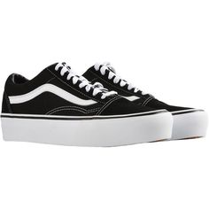 VANS UA OLD SKOOL PLATFORM Sneakers (€170) ❤ liked on Polyvore featuring shoes, sneakers, chaussures, platform sneakers, platform trainers, vans trainers, vans shoes and vans sneakers