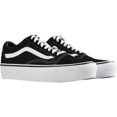 VANS UA OLD SKOOL PLATFORM Sneakers (€105) ❤ liked on Polyvore featuring shoes, sneakers, vans footwear, vans sneakers, platform trainers, platform shoes and platform sneakers
