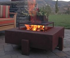Outdoor Coffee Table Firepit with sitting furniture - Google Search