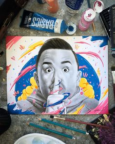 """Went over the top with this @yosoyelmolusco portrait. Man I really admire this guy, all his work and success. Btw the way, if you want to…"""" Over The Top, Success, Portraits, Baseball Cards, Guys, Drawings, Artist, Inspiration, Instagram"""