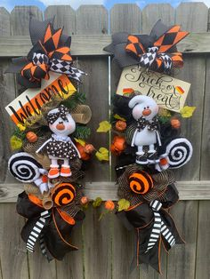 Halloween Duo Ghost Swags, Double Door Swags, Matching Double Swags, Set Of Swags, Two Halloween Swags, Designer Duo Halloween Swags, #duo #double #set #matching #two #swags #halloween #wreaths #doubledoors #fireplace #halloweenswags #ghosts #designerribbon #pumpkin #chenille #lollies #candyland #trickortreat #welcome #candycorn #blackandorange #blackandwhite #google #holidaze #decor #homedecor #holidaydecor #fallswags #falldecor #etsy