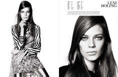 images of fashion model cards | Models Cards' by Steven Meisel for Vogue Italia December 2013 | The ...