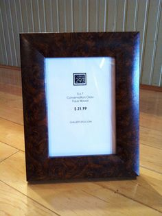5 x 7 Custom Picture Frame - Faux Wood Swirl by Gallery293 on Etsy, $21.99