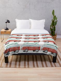 Lovely vintage bus blanket for you, your friends and family. Kids children