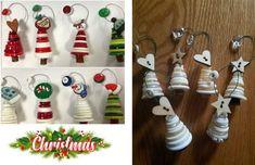 25 idee su come riutilizzare i bottoni per le decorazioni natalizie Christen, Advent Calendar, Christmas Ornaments, Holiday Decor, Crafts, Hobby, Home Decor, Buttons, Xmas