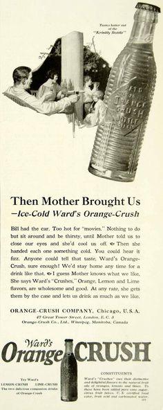 1923 Ad Frederic Kimball Mizen Art Wards Orange Crush Soda Pop Soft Drink YYC4