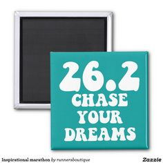 Inspirational marathon magnet. Gifts for runners.