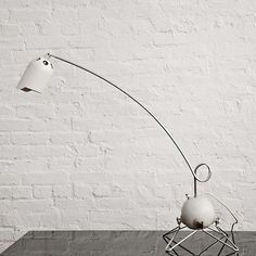 Gino Sarfatti; #599/N Chromed Metal and Enameled Aluminum Table Lamp for Arteluce, 1968.