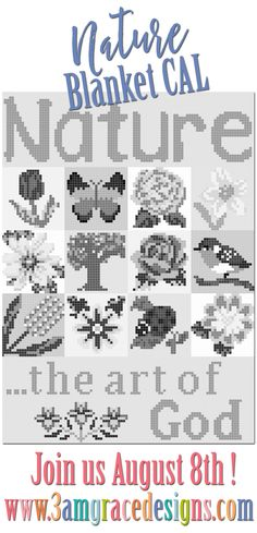 You voted in our 3amgracedesigns Facebook Group poll and we listened! We're excited to announce our Nature Blanket C2C CAL! This will be a FREE CAL, with all the charts and information posted right here each week once we begin. There will be 4 bonus squares in the event you don't wish to crochet the …