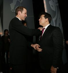 The event, held at the London Palladium, was hosted by comedian Michael McIntyre, who had Prince Williams in stitches ahead of the show