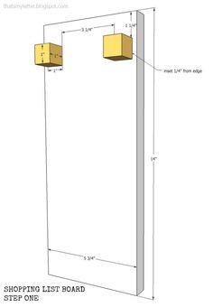 """Materials List:  1 - 3/4"""" plywood @ 5 3/4""""w x 14""""l (back board) 2 - 1"""" square dowel @ 1""""l (blocks) 2 - #8 screw eyes 1 - 3/16"""" dowel @ 5 1/4""""l (paper roll holder) 2 - leather straps @ 5""""l x 1/2""""w 1 - 3""""w adding machine paper roll"""