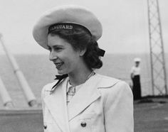 Princess Elizabeth aboard a Royal Navy aircraft  Future queen, or sailor? Princess Elizabeth wears a nautical cap while on board a Royal Navy aircraft carrier headed to South Africa on Feb. 17, 1947.    Read more: http://www.nydailynews.com/life-style/queen-elizabeth-best-headgear-gallery-1.1088449#ixzz2AQkY7SkZ