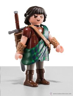 Playmobil Guerrero escoces, Break heart Kids Army Costume, Playmobil Sets, Furry Tails, Toy Display, Mini Photo, Braveheart, Legoland, King Kong, Jouer