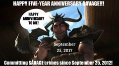 Happy Anniversary Savage!!! WE LOVE YOU!!! XD