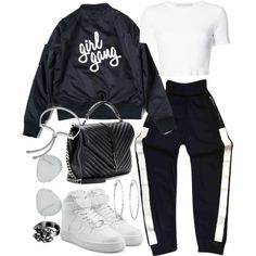 Untitled #20931 by florencia95 on Polyvore featuring moda, Rosetta Getty, Chanel, NIKE, Yves Saint Laurent, Monica Vinader, Lydell NYC and Victoria Beckham